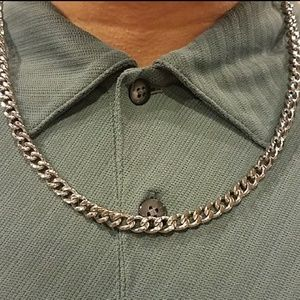BNWT Stainless Steel Curb Link Necklace
